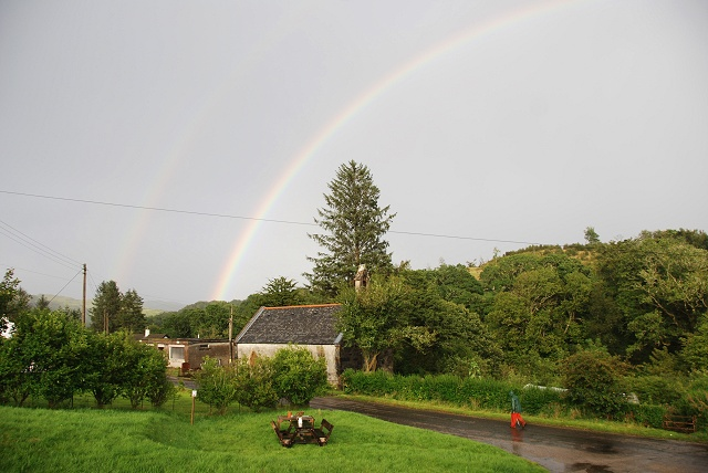 Double rainbow over Ford Church