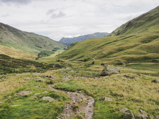 Upper end of Grisedale