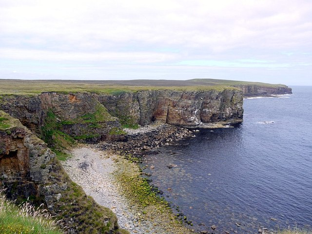 The Bay of Large Burra Geo west of the Brough of Deerness