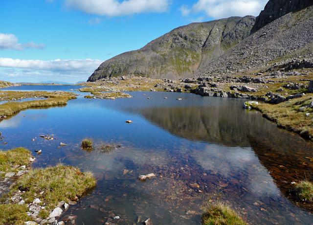Lochan on Bealach Mor