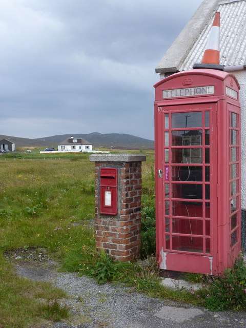 Stilligarry: postbox № HS8 60 and phone