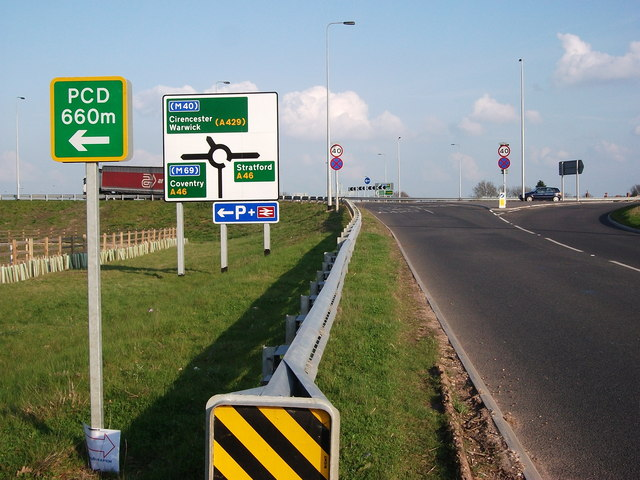 New junction of B4463 and A46 near Sherbourne