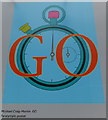 TQ3180 : Paralympic Poster: Martin Go by Michael Craig-Martin by PAUL FARMER