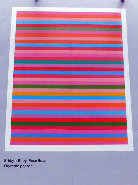 Olympic Poster: Rose Rose by Bridget Riley
