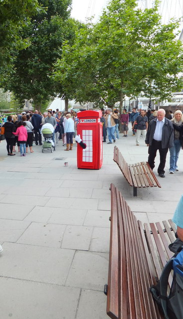 A Telephone Box on Southbank