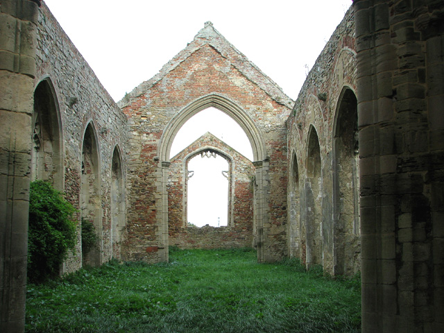 The ruined church of St Peter, Wiggenhall