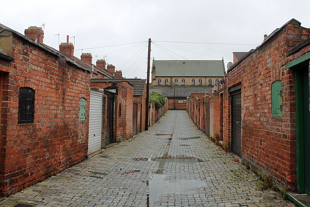 Back Lane (looking south), Hope Town, Darlington
