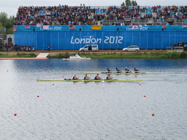 Paralympics rowing - GB four winning gold