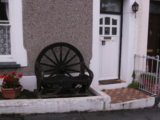 Wooden wagon wheel at Highbury