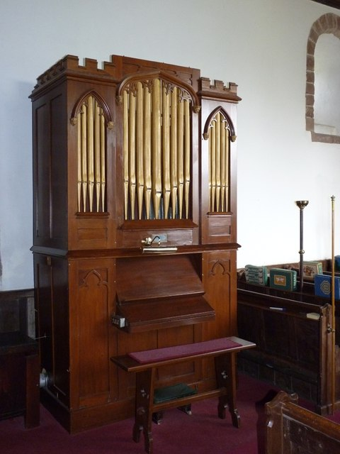 The organ in Wentnor church