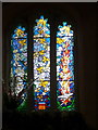 TL4032 : Stained Glass Window, St George's Church, Anstey, Hertfordshire by Christine Matthews