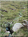 NY2508 : Hill slope with boulders and minor stream by Trevor Littlewood