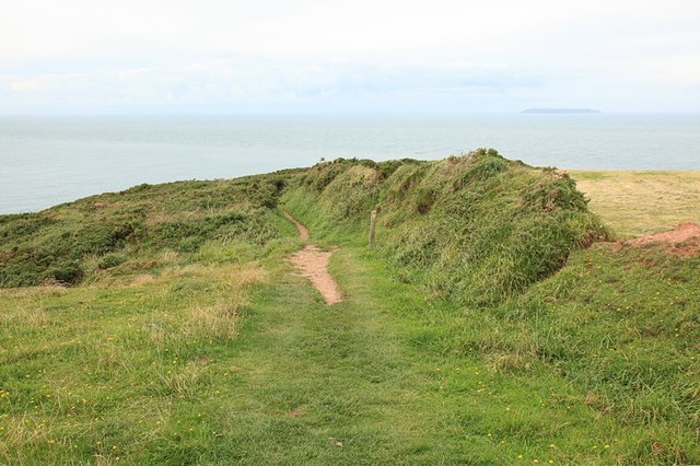 South West Coast Path above Blagdon Cliff