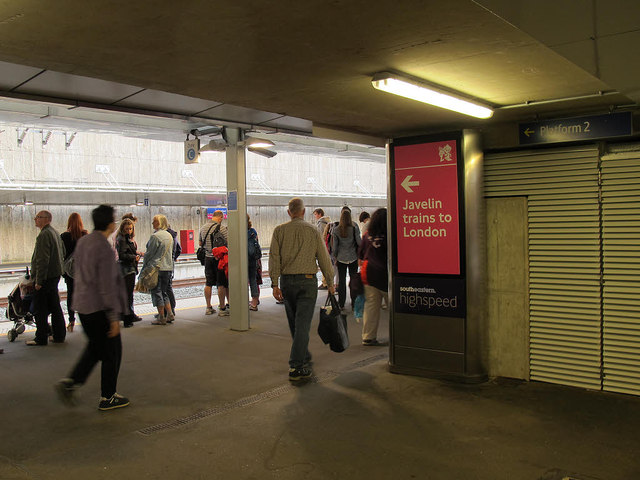 Olympic signage at Stratford International