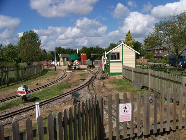 The narrow gauge railway station at Brogdale Farm