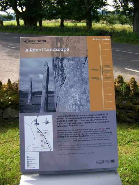 Information board at Dunchraigaig Cairn