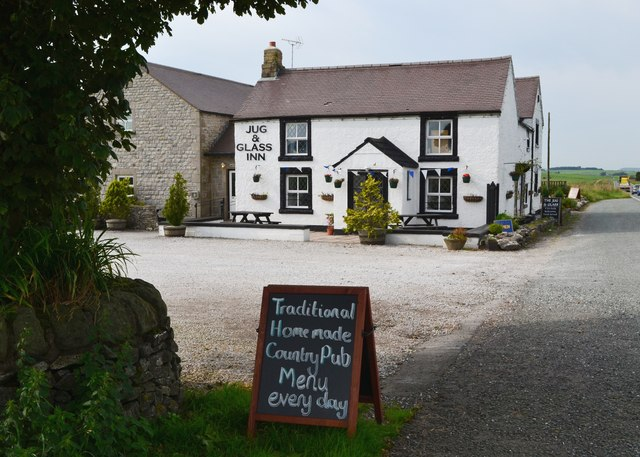 """Jug and Glass Inn"" on the A515 north of Newhaven"