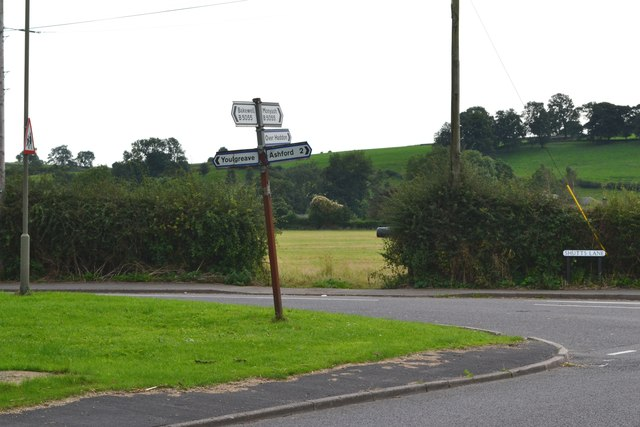 Crossroads to the west of Bakewell
