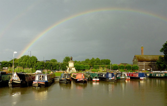 Bancroft Basin with rainbow, Stratford-upon-Avon