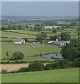 SK3655 : View down to Moorwood Farm by Andrew Hill