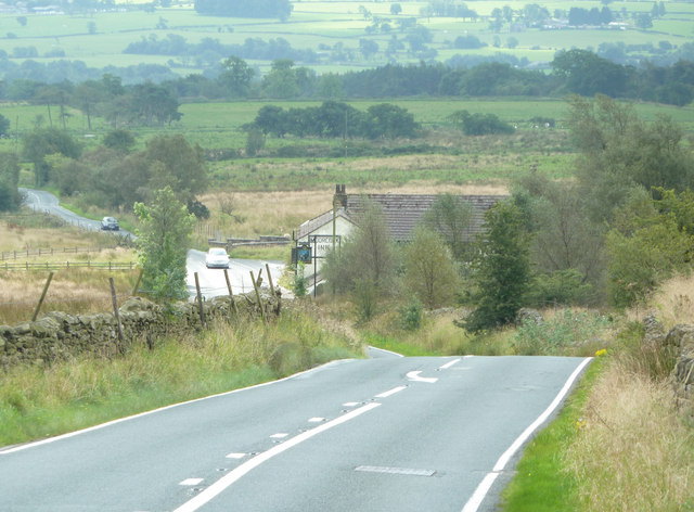 The Slaidburn Road and Moorcock Inn