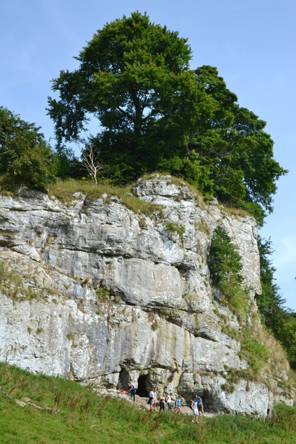 Frank's Rock with limestone caves beneath
