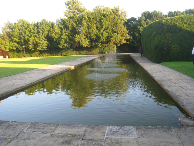 Pool behind Heslington Hall