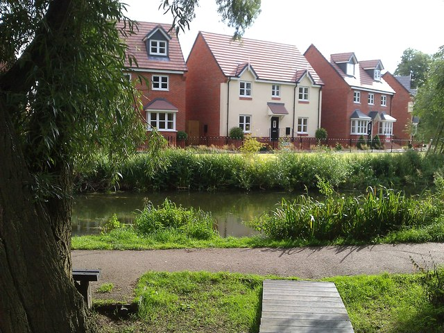 New houses along the canal
