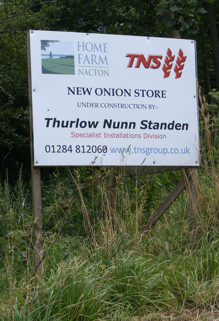 New Onion Store sign at Home Farm, Nacton