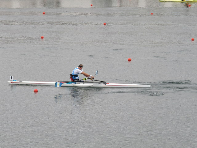Paralympics rowing at Eton Dorney, Argentinian single sculler