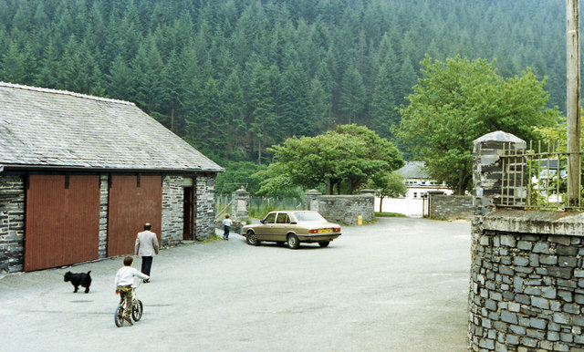 Site of Corris station, 1986
