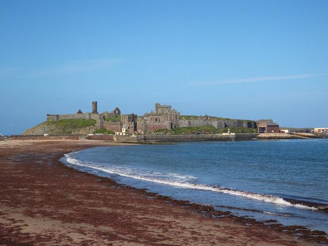 Peel Castle and promenade