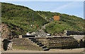 TA0684 : Beach access, Cayton Bay by Pauline Eccles