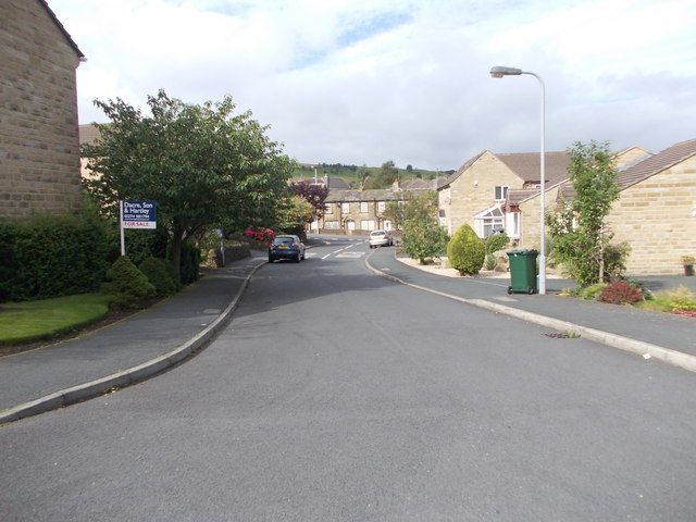 Meadow Court - looking towards Cottingley Road