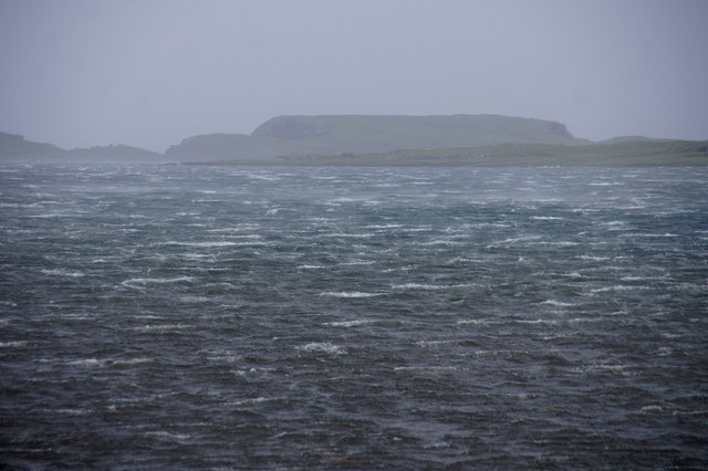 A windy day in Baltasound voe