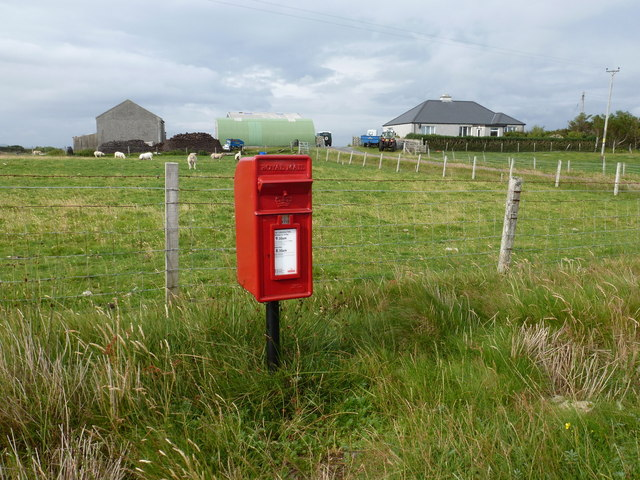 Sidinish: postbox № HS6 20 and the old post office