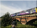 SK6178 : Lincoln - Sheffield train crosses Manton Viaduct over Chesterfield Canal by Chris Morgan