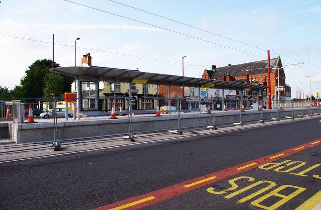 Metrolink's Droylsden tram stop, Ashton Road, Droylsden