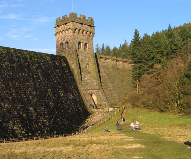 Eastern tower of Derwent Dam