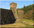 SK1789 : Eastern tower of Derwent Dam by Trevor Littlewood