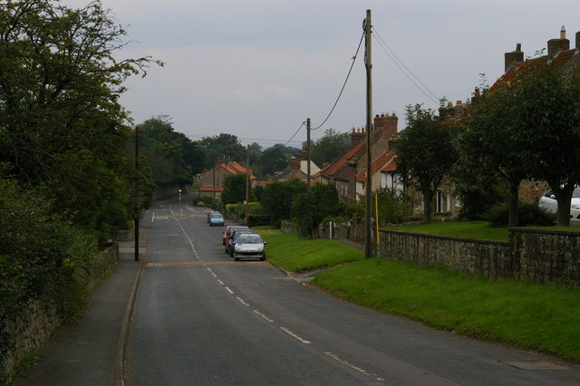 Middleton Tyas: road into village from Scotch Corner