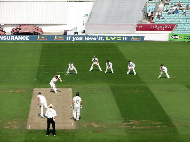 The Oval: the first wicket of the morning