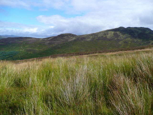 Hill and moor east of the Ben Vorlich path