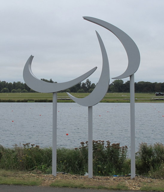 Agitos, paralympic symbol, at Eton Dorney