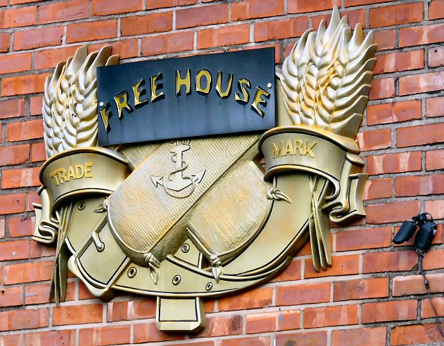 Free House Trade Mark sign on The Ring o Bells