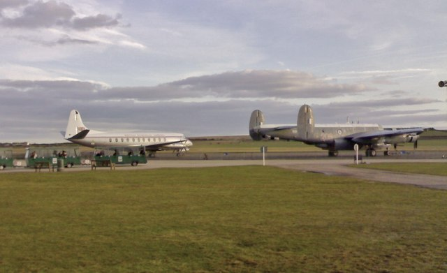 Viscount and Shackleton at Imperial War Museum, Duxford