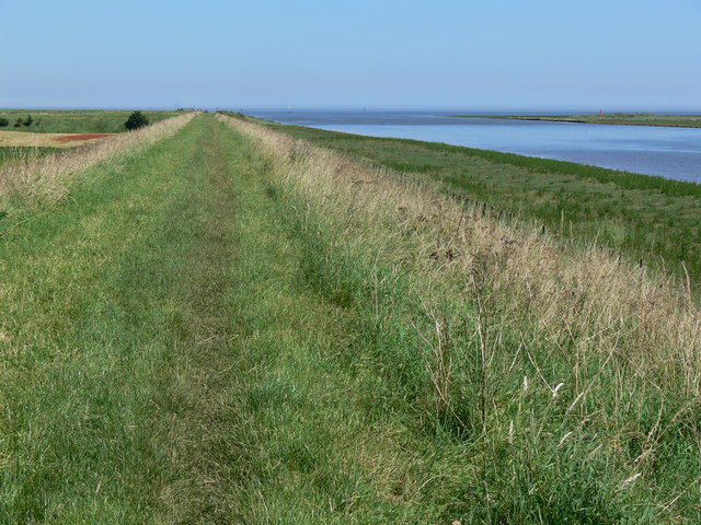 Footpath along the sea bank