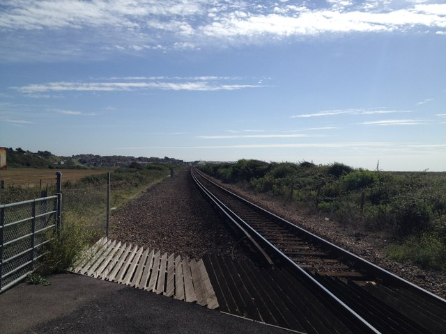 Railway line towards Seaford at Tide Mills