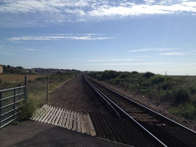 Railway line towards Seaford at Tide Mills