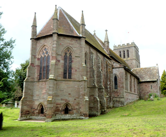 Eastern side of Madley Parish Church